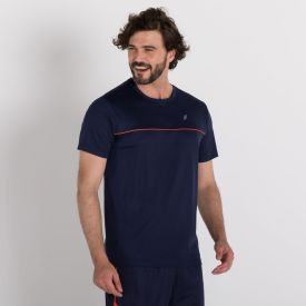Camiseta Dry com Viés Scream Azul Marinho