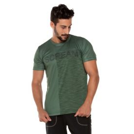 Camiseta Dry Estampada Scream Verde Militar