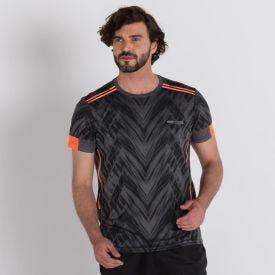 Camiseta Dry Fit Training Local Sports  Chumbo/ Laranja