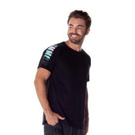 Camiseta em Malha com Estampa Local Surf Preto