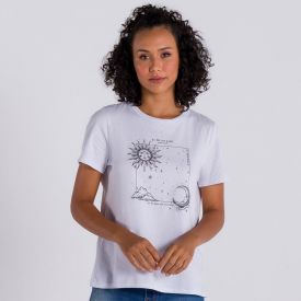 Camiseta Estampa Mística Patrícia Foster Branco