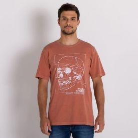 Camiseta Estonada Caveira Thing Ferrugem