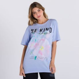 Camiseta Floral Boby Blues Azul