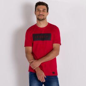 Camiseta Legacy com Estampa que Brilha Colisão Vermelho Copas