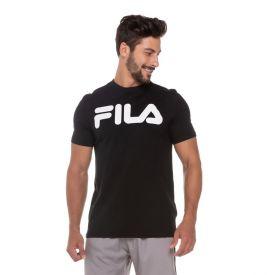 Camiseta Letter Fila Preto Branco