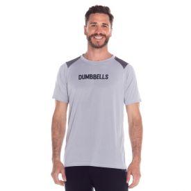 Camiseta Malha Dumbbells Scream Cinza