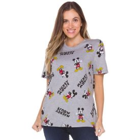 Camiseta Malha Estampa Rotativa Mickey Disney