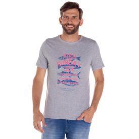 Camiseta Malha Fish Sunday Sea Thing Mescla