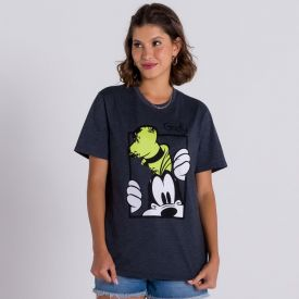 Camiseta Malha Pateta Disney Mescla