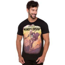 Camiseta Mandalorian com Baby Yoda Disney Preto