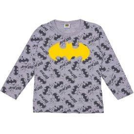 Camiseta Manga Longa com Estampa Batman Disney