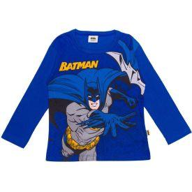 Camiseta Meia Malha com Manga Longa Batman Dc Comics