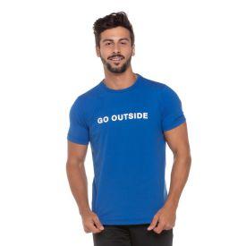 Camiseta Meia Malha Go Outside Scream Azul