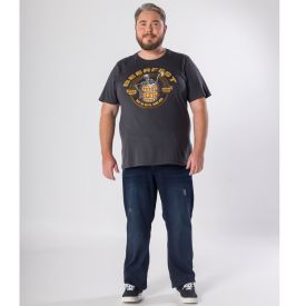 Camiseta Plus Size Estampada Beerfest Marc Alain Chumbo