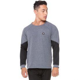 Camiseta Poliamida com Recortes Scream Mescla Escuro/Preto