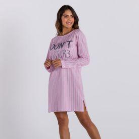 Camisola Listrada Don't Disturb Holla Rosa Bb