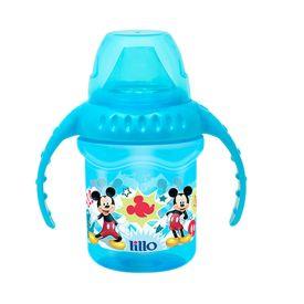 Caneca com Bebedor de Silicone 230 ml Disney - Azul
