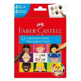 Caneta Hidrográfica 12 Cores Caras E Cores Faber-Castell - 15.0112CCZF