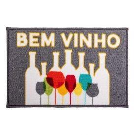 Capacho Divertido 33X58cm Havan - Vinho