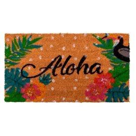 Capacho Fibra De Coco Mumbai 33X60cm Havan - Aloha Tucano