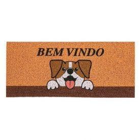 Capacho Vinil Long 30X70cm Para Porta De Entrada - Bem Vindo Dog