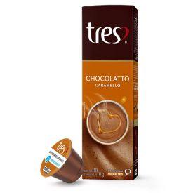 Cápsulas Chocolatto Caramelo 105G Tres - 10 Cápsulas