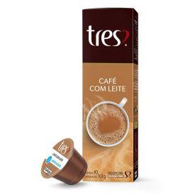 Cápsulas De Café Com Leite 90G Tres - 10 Cápsulas