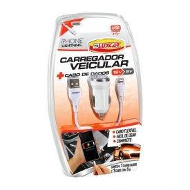 Carregador Veicular Lightning 12V Luxcar - 3727