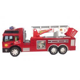 Carrinho Caminhão de Bombeiro Fricção CP43067 CKS Toys - Vermelho
