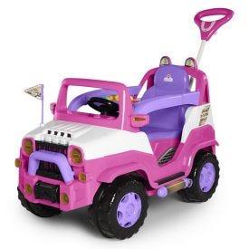 Carro Calesita Diipi Rosa Passeio E Pedal - 1028