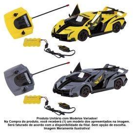 Carro Com Controle Remoto Yellow 7 Funções Candide - 3542