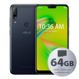 "Celular Smartphone Asus Zenfone Max Shot 6,2"" 32Gb + 32Gb - Preto"