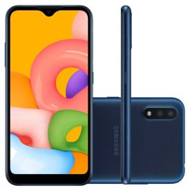 "Celular Smartphone Galaxy A01 32Gb 5,7"" Samsung - Azul"