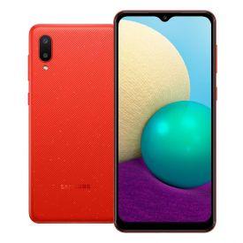 """Celular Smartphone Galaxy A02 32Gb 6,5"""" Samsung - Vermelho"""