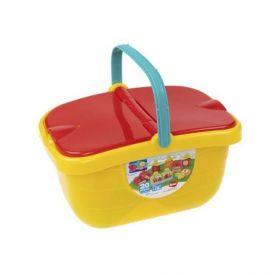 Cesta De Brinquedos Dismat Blocolândia 20 Peças - 2382