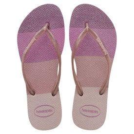 Chinelo Feminino Slim Palett Havaianas - Pink 33-34