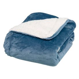 Cobertor Bebe 90X110 Sherpa Havan Baby - Azul Cobalto