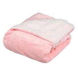 Cobertor Bebe 90X110 Sherpa Havan Baby - Rosa Claro