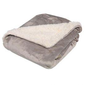 Cobertor Bebe 90X110 Sherpa Havan Baby - Cinza Dove