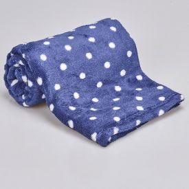 Cobertor Bebê Microfibra 90X100cm Yoyo Baby - Poá Marinho