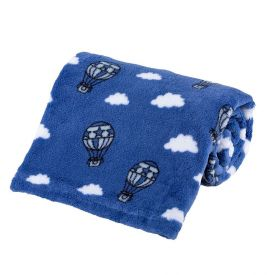 Cobertor Bebê Microfibra 90X100cm Yoyo Baby - Balao Magico Azul