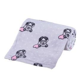 Cobertor Bebê Microfibra 90X100cm Yoyo Baby - Panda Poa Cinza