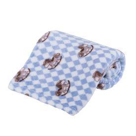 Cobertor Bebê Microfibra 90X100cm Yoyo Baby - Cavalinho Azul