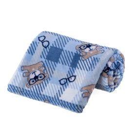 Cobertor Bebê Microfibra 90X100cm Yoyo Baby - Ursinhos Azul