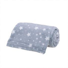 Cobertor Bebê Microfibra 90X100cm Yoyo Baby - Estrela Cinza