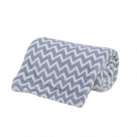 Cobertor Bebê Microfibra 90X100cm Yoyo Baby - Zig Zag Cinza