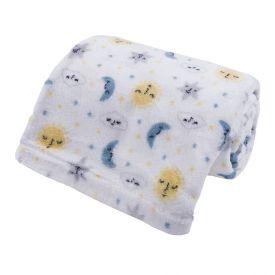 Cobertor Bebê Microfibra 90X100cm Yoyo Baby - Céu Cinza