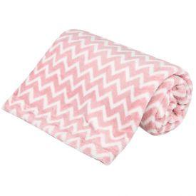 Cobertor Bebê Microfibra 90X100cm Yoyo Baby - Zig Zag Rosa
