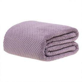 Cobertor Casal 1,80M X 2,20M Dobby - Lilas Sujo