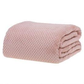 Cobertor Casal 1,80M X 2,20M Dobby - Rosa Velho